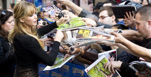 Jennifer Lawrence atendendo expectativas dos fãs